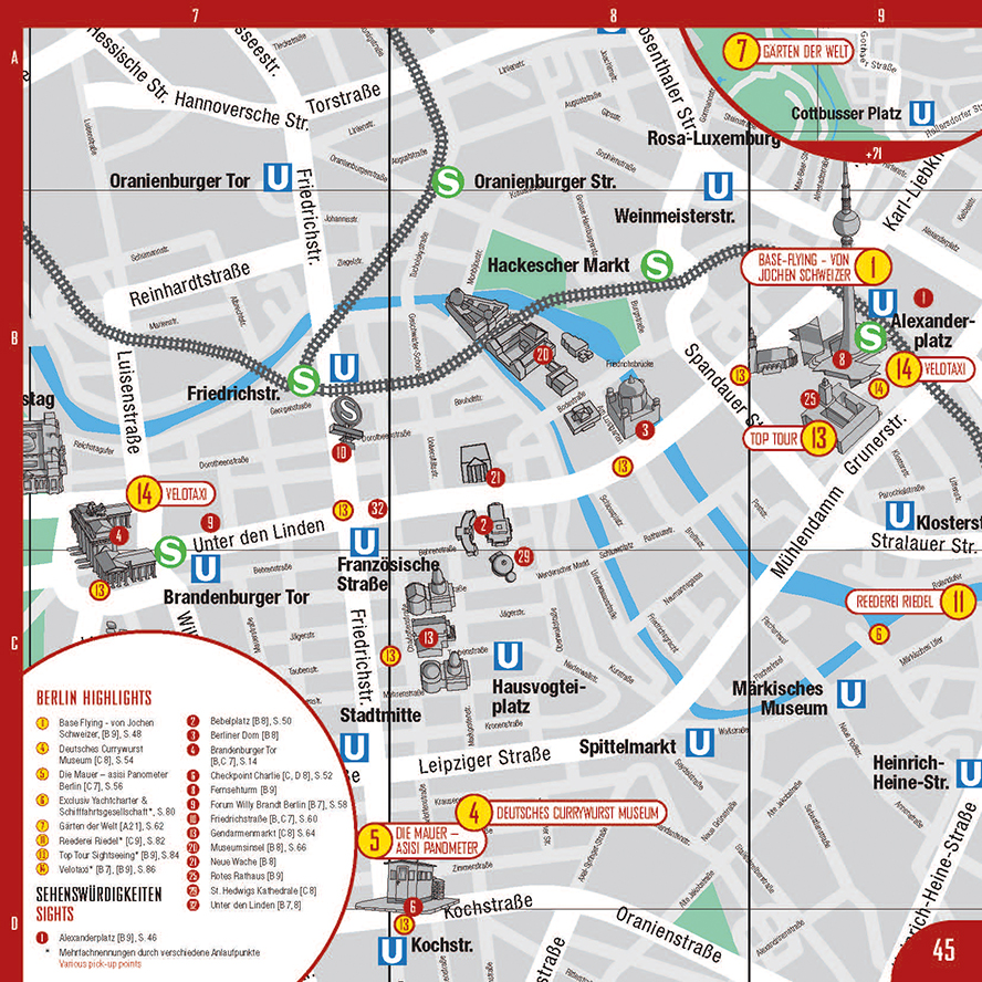 Berlin Highlights Citymap