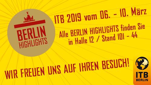 Die Berlin Highlights-Partner auf der ITB 2019
